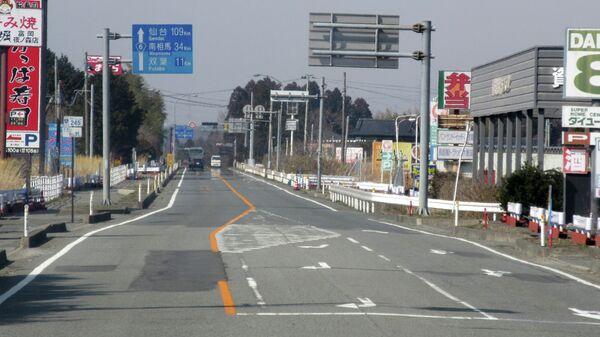 Зона отчуждения в районе АЭС Фукусима. Архивное фото