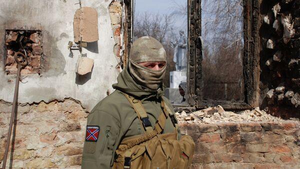 Ополченец ДНР в Донецке. Март 2015