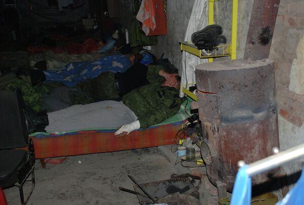 Раненые ополченцы Донецкой народной республики