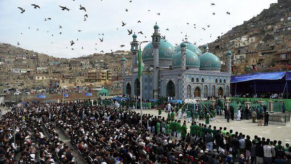 Храм Сахи в Кабуле во время праздника Навруз. Афганистан. Архивное фото