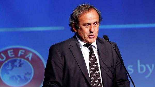 Действующий глава Союза европейских футбольных ассоциаций (УЕФА) Мишель Платини. Архивное фото