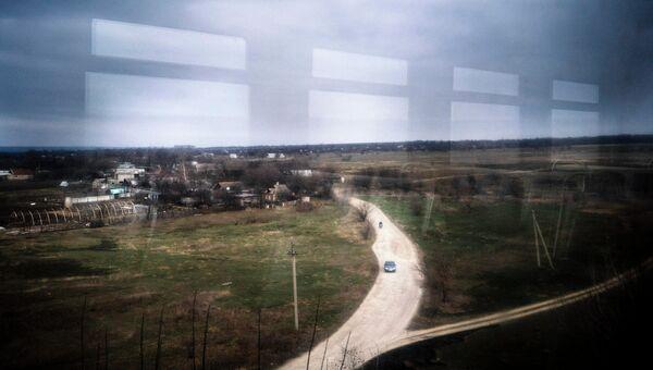 Вид из окна поезда Ясиноватая-Луганск. Архивное фото