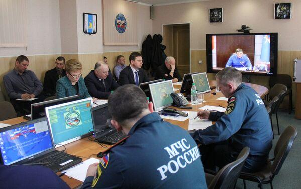 Заседание Правительственной комиссии по спасательной операции в Охотском море