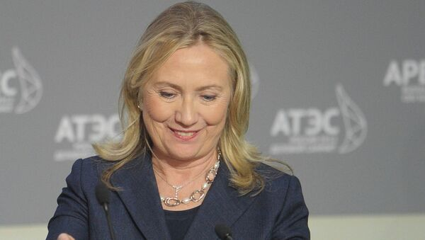 Государственный секретарь Соединенных Штатов Америки (США) Хиллари Клинтон