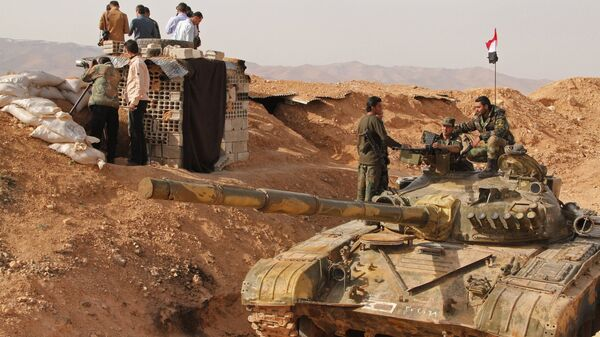 Сирийские военнослужащие на сирийско-ливанской границе