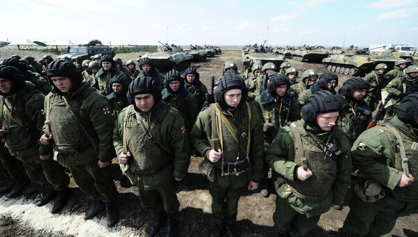 Учения Кадамовском полигоне в Ростовской области. Архивное фото