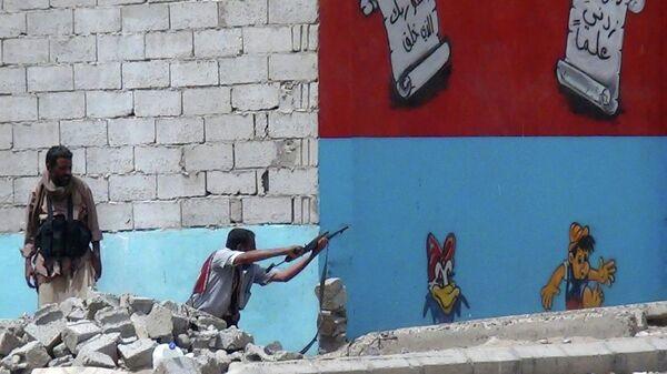 Бойцы в городе Аден. Йемен