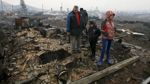 Жители поселка Шира в Хакасии. Апрель 2015
