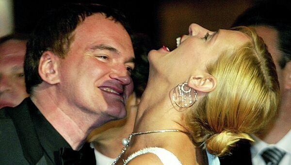Американский режиссер Квентин Тарантино и актриса Ума Турман. Канны, 2004 год
