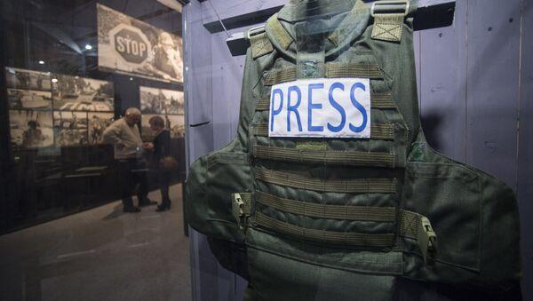 Бронежилет журналиста. Архивное фото