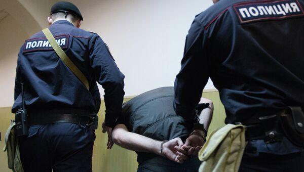 Фигурант дела об убийстве оппозиционного политика Бориса Немцова Анзор Губашев в суде. Архивное фото