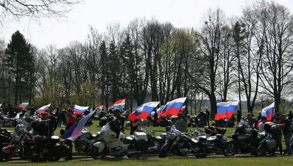 Калининградские байкеры почтили память советских воинов в Польше. 2015 год.