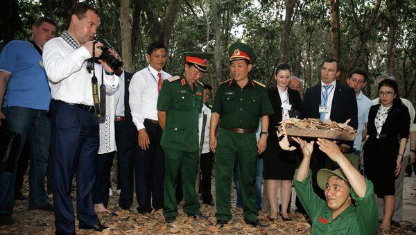 Во время посещения военно-исторического комплекса Партизанский край Кути - одной из главных достопримечательностей Южного Вьетнама