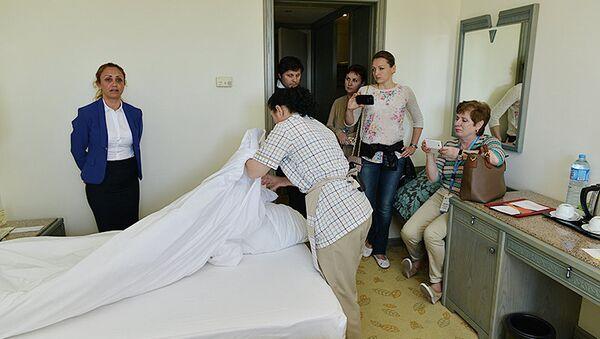 Мастер-класс по уборке номеров в турецком отеле