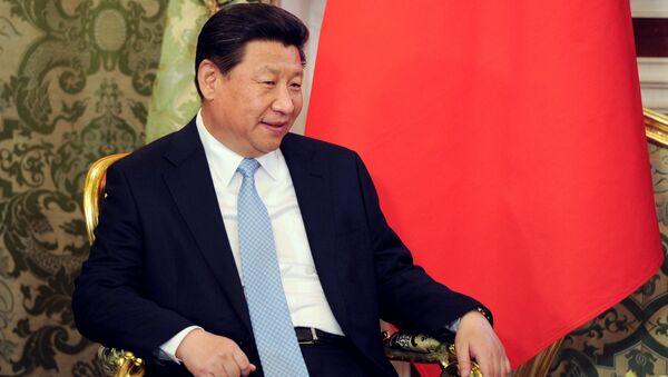 Председатель Китайской Народной Республики Си Цзиньпин во время беседы с президентом России Владимиром Путиным в Кремлёвском дворце. Архивное фото