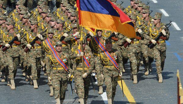 Военнослужащие Вооруженных сил Армении. Архивное фото