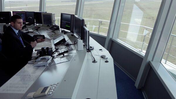 Центр управления полетами аэропорта Симферополя. Архивное фото