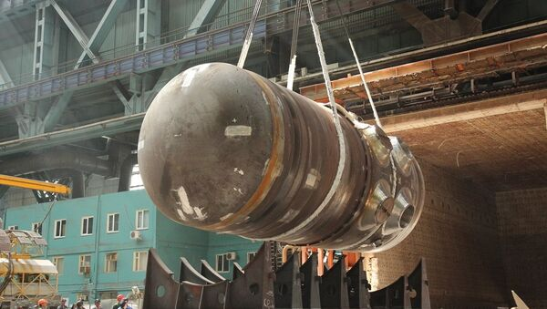 Корпус реактора для первого энергоблока Белорусской АЭС
