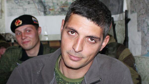 Ополченец Донецкой народной республики (ДНР) с позывным Гиви
