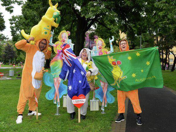 Болельщики из Австралии перед финалом конкурса Евровидение