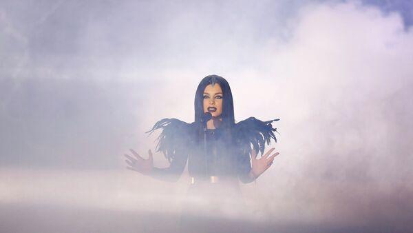 Нина Сублатти из Грузии выступает в финале конкурса Евровидение