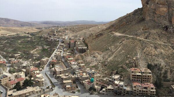 Вид на сирийский город Маалюля