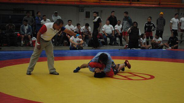 Соревнования на чемпионате Мексики по самбо
