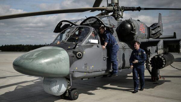 Вертолет КА-52  на всероссийском этапе международного конкурса Авиадартс-2015