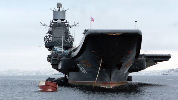 Тяжелый авианесущий крейсер. Архивное фото