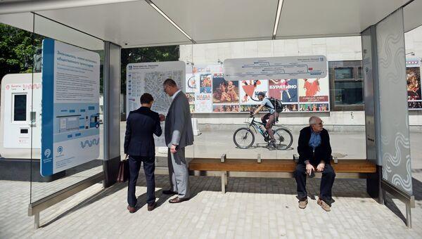 Новые остановки общественного транспорта в Москве. Архивное фото