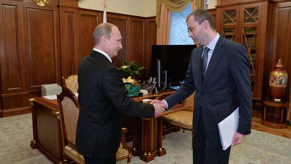 Президент РФ В.Путин встретился с губернатором Чукотского автономного округа Р.Копиным