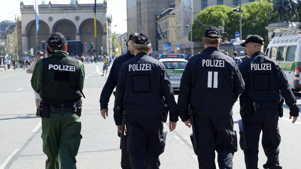 Полиция во время акции протеста