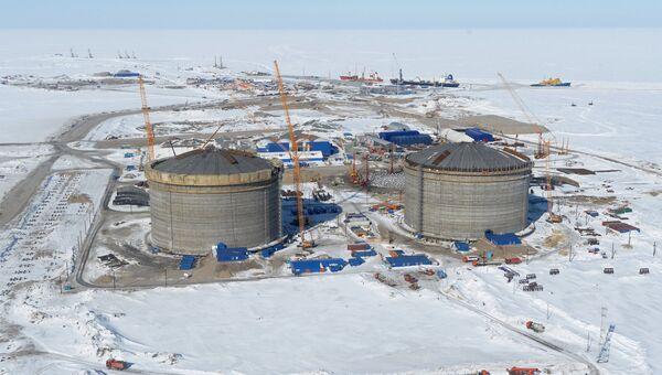 Строительство завода по производству сжиженного природного газа на Ямале. Архивное фото