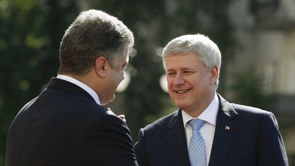 Встреча президента Украины Петра Порошенко и премьер-министра Канады Стивена Харпера в Киеве