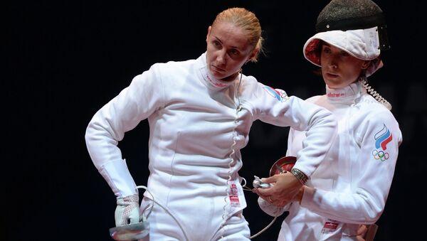 Российские спортсменки Виолетта Колобова (слева) и Любовь Шутова. Архивное фото