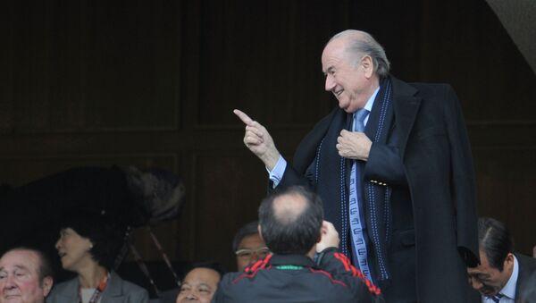 Президент ФИФА Зепп Блаттер на ЧМ-2010 в ЮАР. Архивное фото