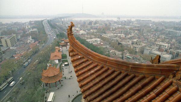 Город Ухань в Китае