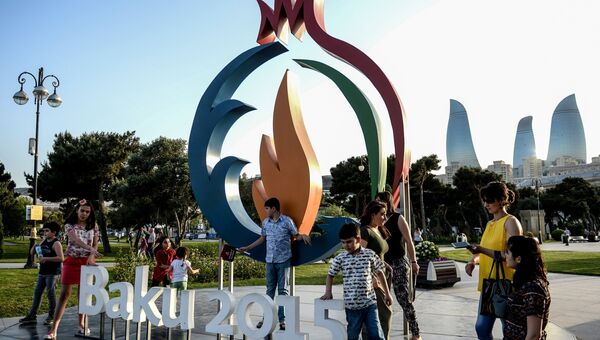 Эмблема Европейских игр в Баку