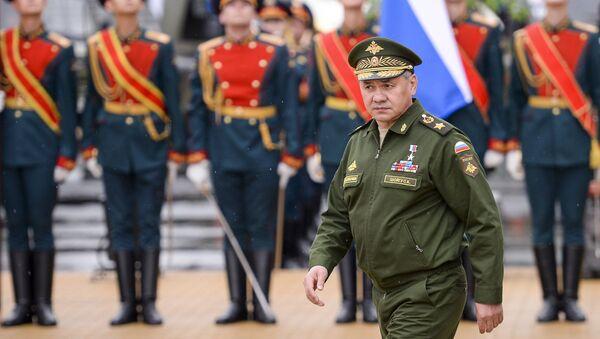 Министр обороны РФ Сергей Шойгу на торжественном открытии Международного военно-технического форума Армия-2015