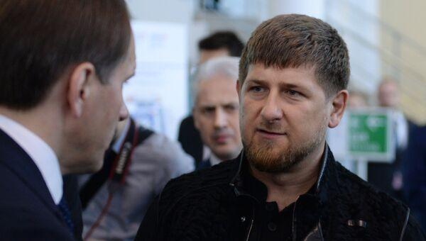 Глава Чеченской Республики Рамзан Кадыров на XIX Петербургском международном экономическом форуме