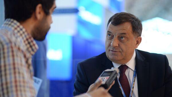 Президент Республики Сербской Боснии и Герцеговины Милорад Додик (справа). Архивное фото