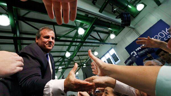 Губернатор-республиканец Крис Кристи заявил о намерении баллотироваться в президенты США