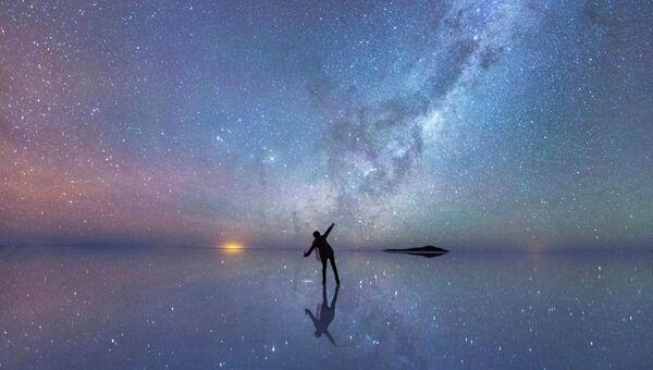 Отраженное ночное небо
