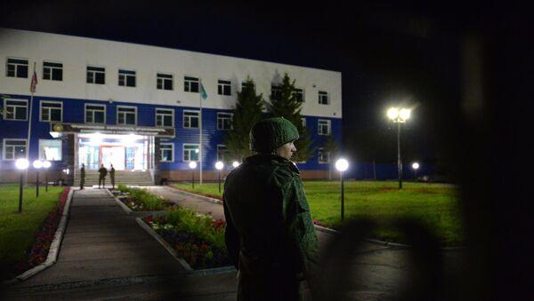 Обрушение крыши учебного центра ВДВ в Омской области. Архивное фото