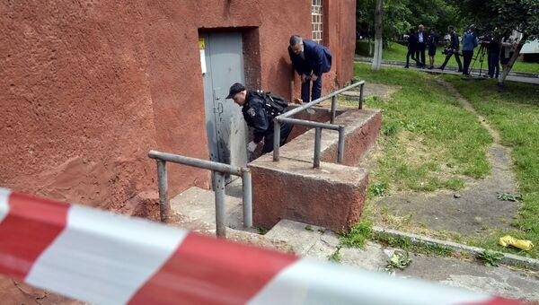 Полиция работает на месте взрыва во Львове
