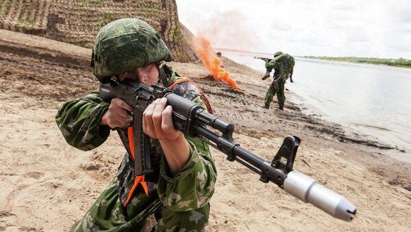 Всеармейское соревнование понтонно-переправочных подразделений инженерных войск Открытая вода