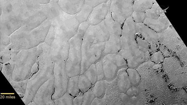 Долина Спутника. Снимок зонда New Horizons