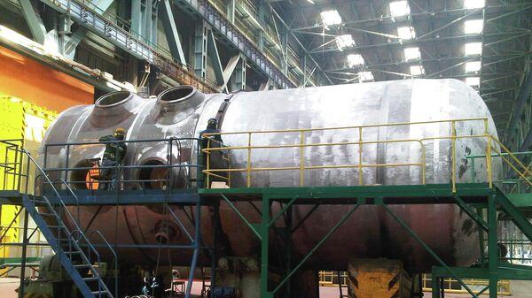 Корпус реактора для первого блока Белорусской АЭС на заводе Атоммаш