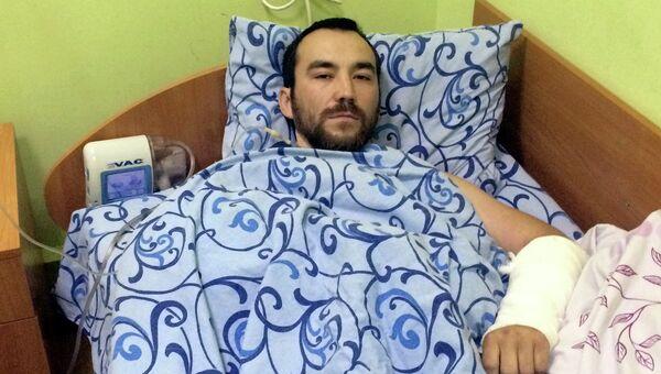 Российский военный Евгений Ерофеев, задержанный на Украине, в госпитале Киева. Архивное фото