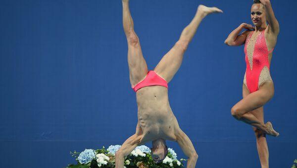 Кристина Джонс и Билл Мэй выступают на ЧМ по водным видам спорта в Казани